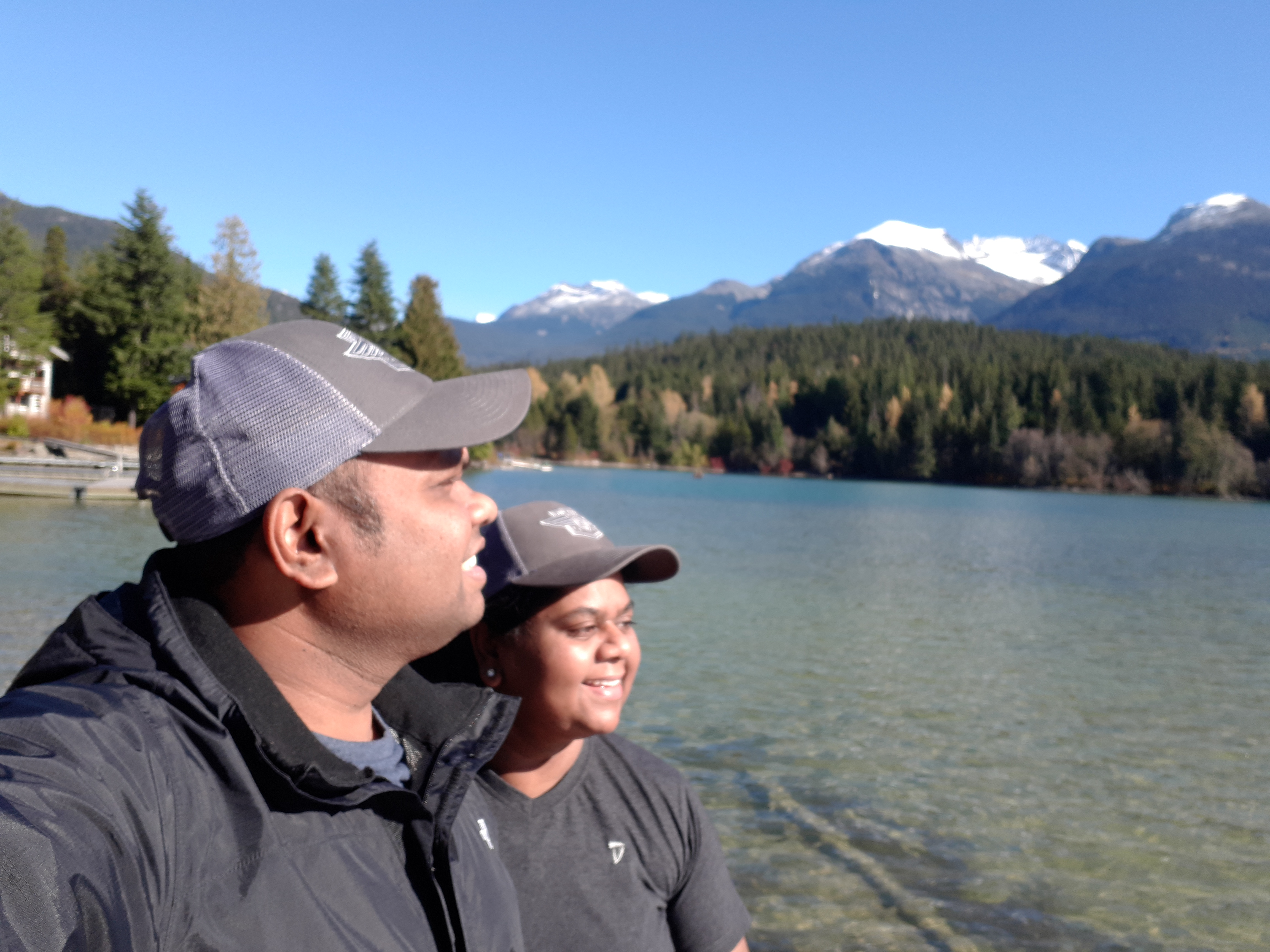 me and my wife at green lake