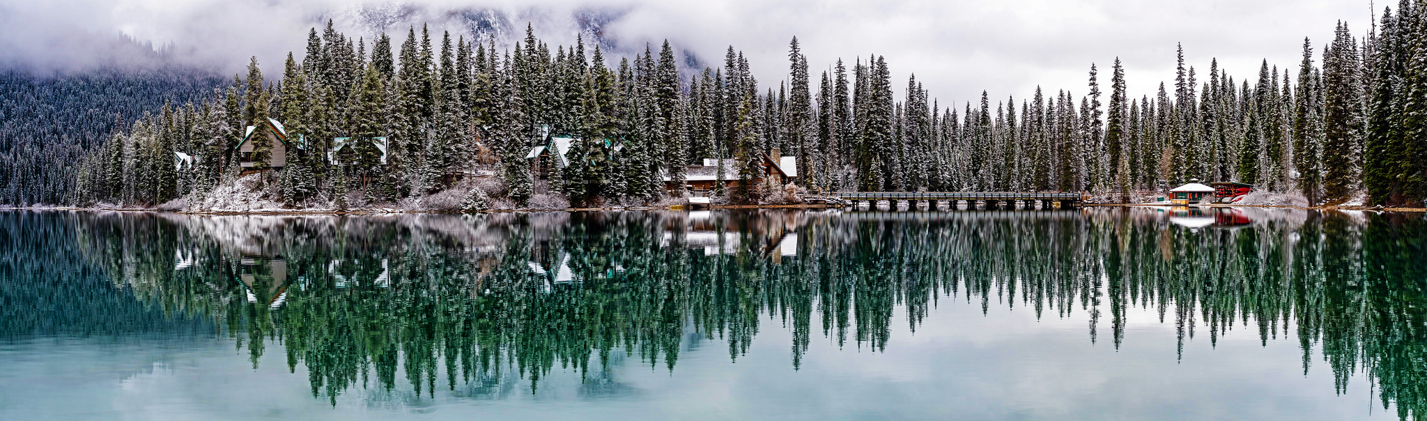 emerald lake late fall